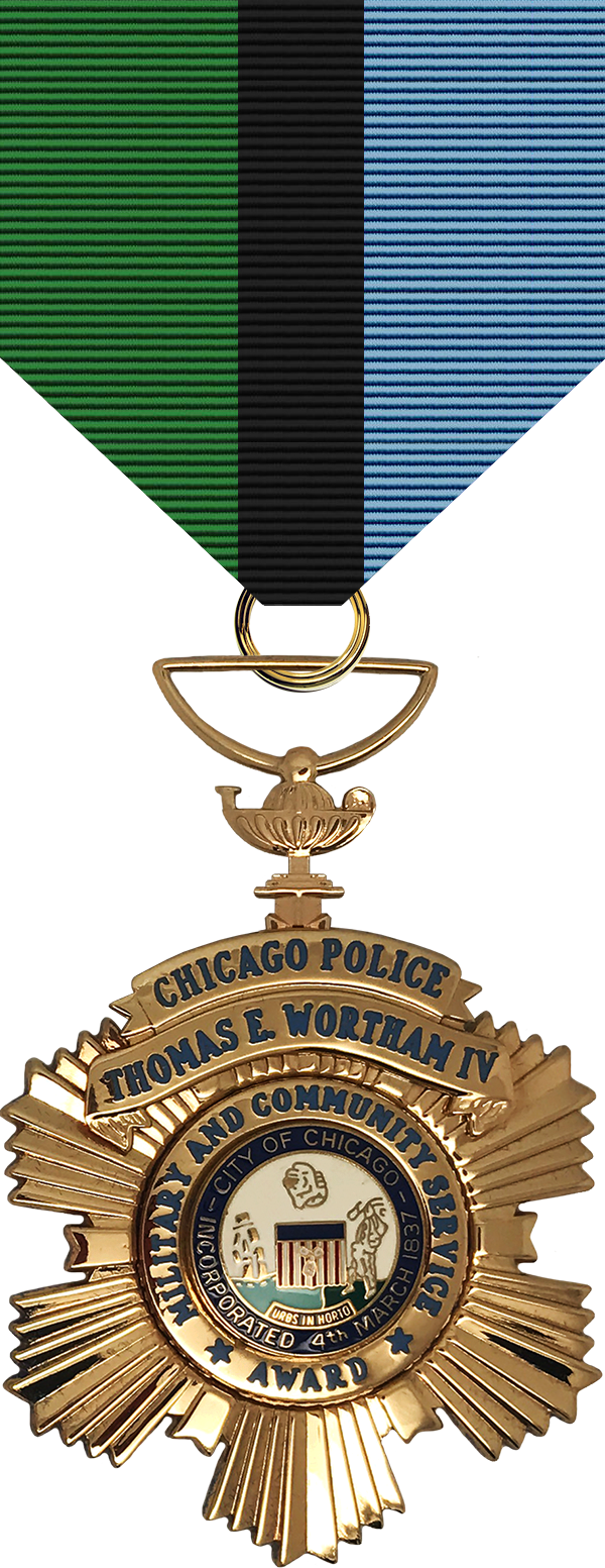 Thomas E. Wortham Military and Community Service Award Medal