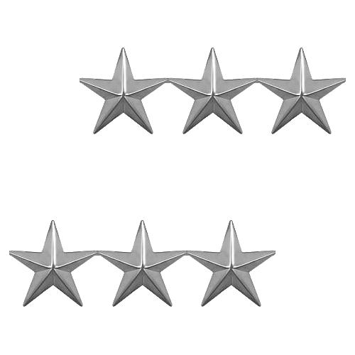 Three Stars - Silver Tone