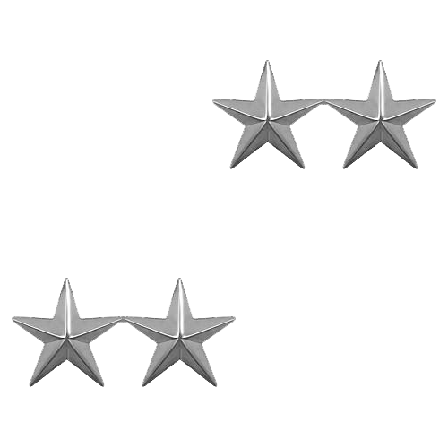 Two Stars - Silver Tone